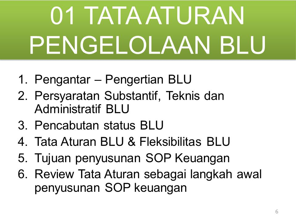 Pengelolaan BLU