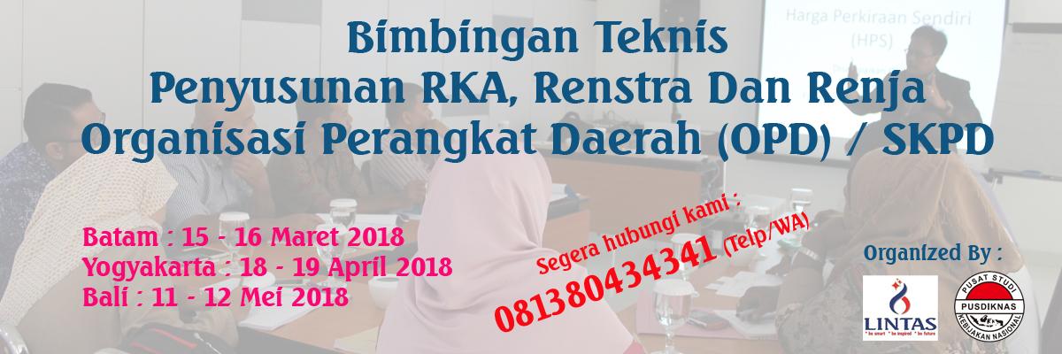 Bimtek Penyusunan RKA, Renstra Dan Renja SKPD