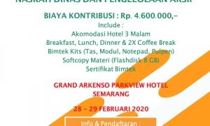 Pelatihan Tata Naskah Dinas dan Arsip Di Semarang