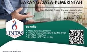 Pelatihan dan ujian sertifikasi pbjp